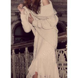 Gryphon beaded flutter dress